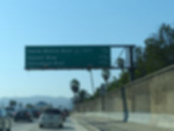 Los Angeles freeway santa monica blvd sunset blvd hollywoodblvd