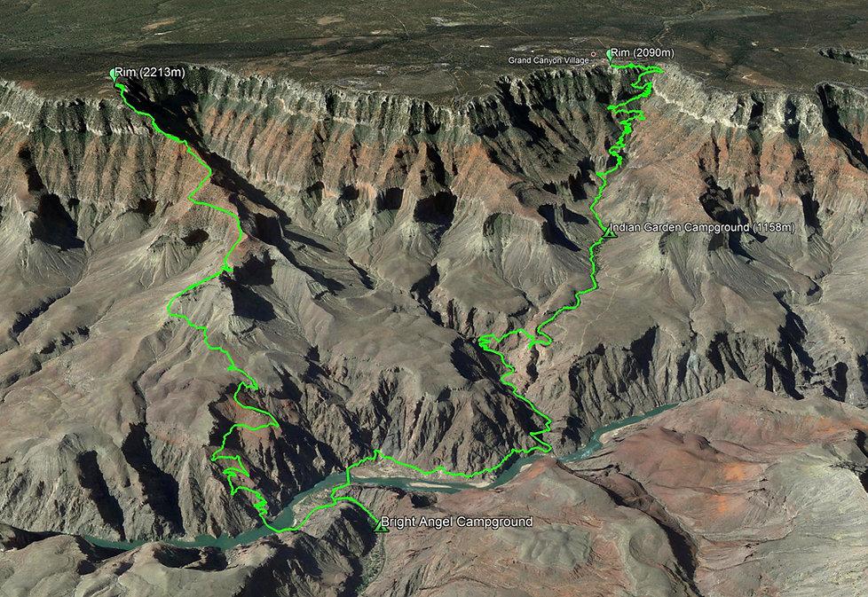 Grand Canyon National Park - Bright Angel Trail - South Kaibab Trail - Trek