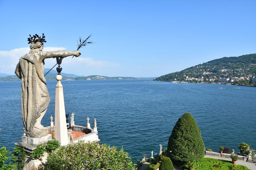 Italie Lac Majeur Isola Bella jardin statue Lac Majeur