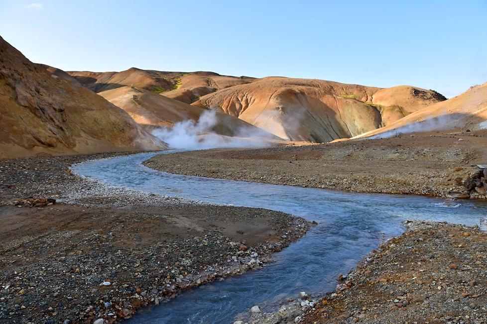 Islande massif Kerlingarfjöll rivière