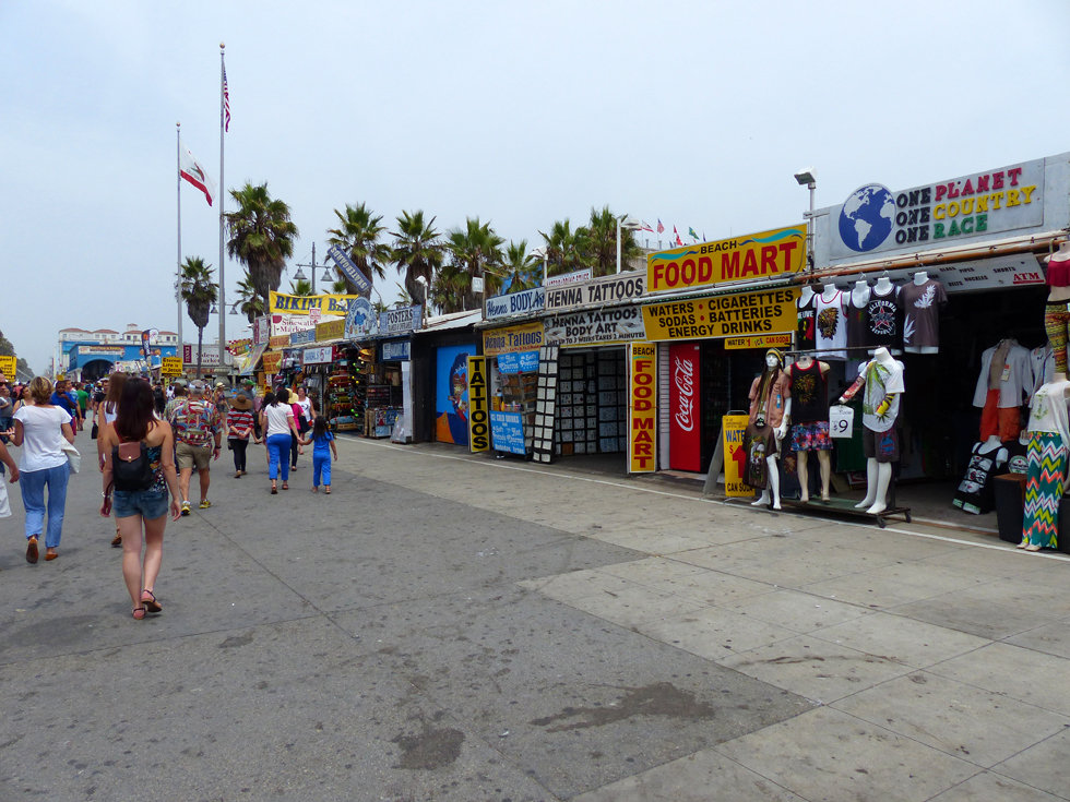 Los Angeles Venice beach ocean front walk