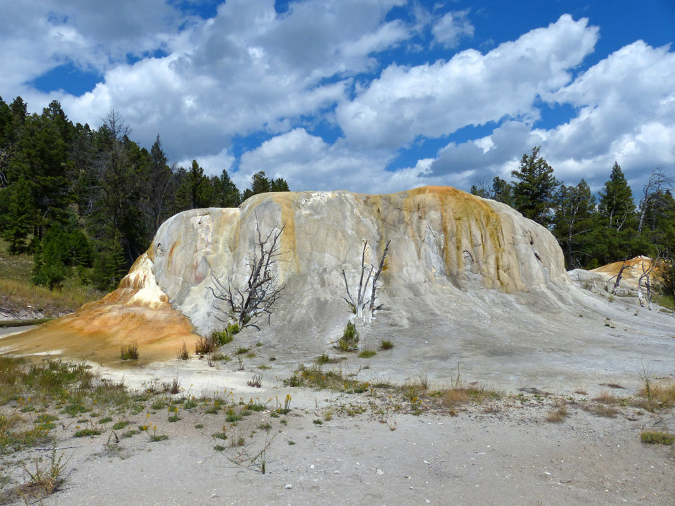 Yellowstone National Parc Mammoth Hot Spring Orange Spring Mound