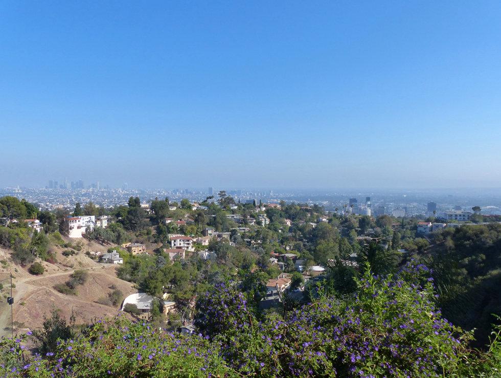 Los Angeles landscape hollywood hills paysage