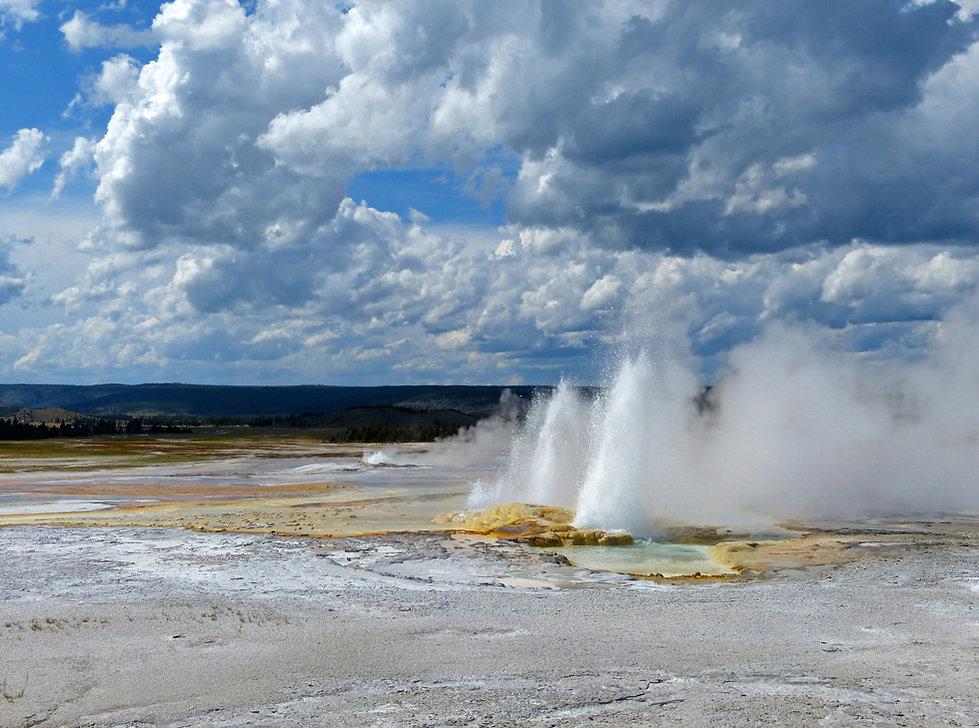 Yellowstone National Park Lower Geyser Basin Clepsydra Geyser