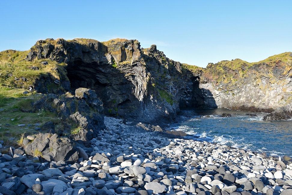 Islande Hellnar côte falaises lave