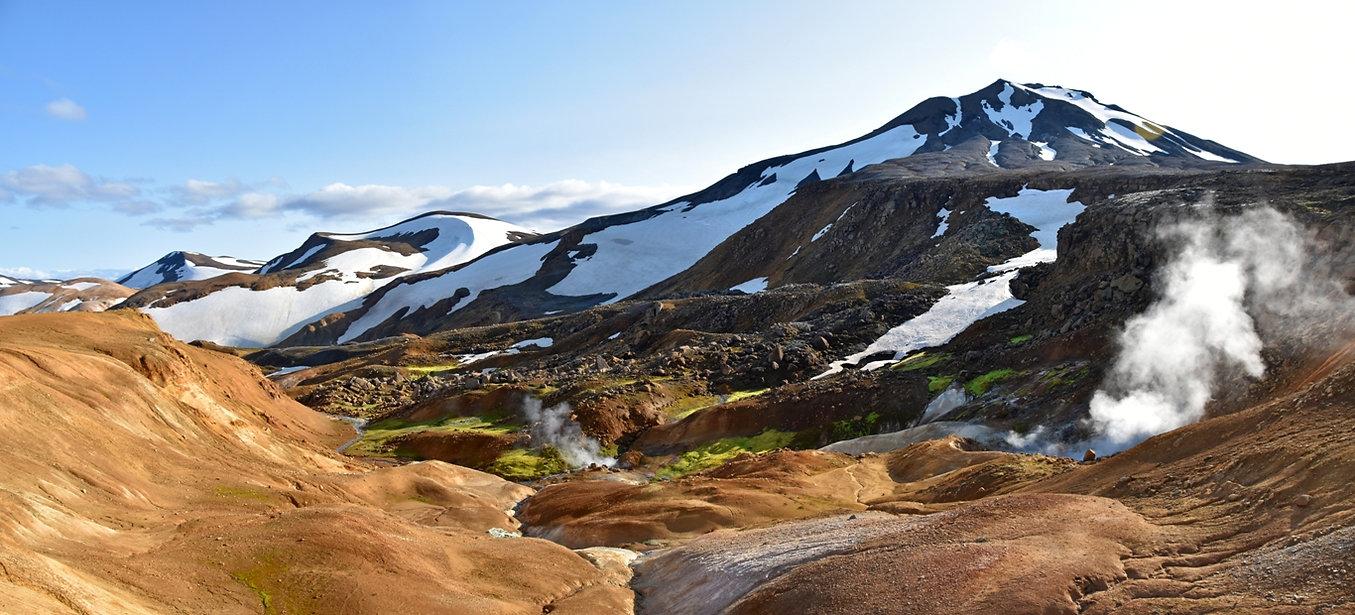Islande massif Kerlingarfjöll panorama