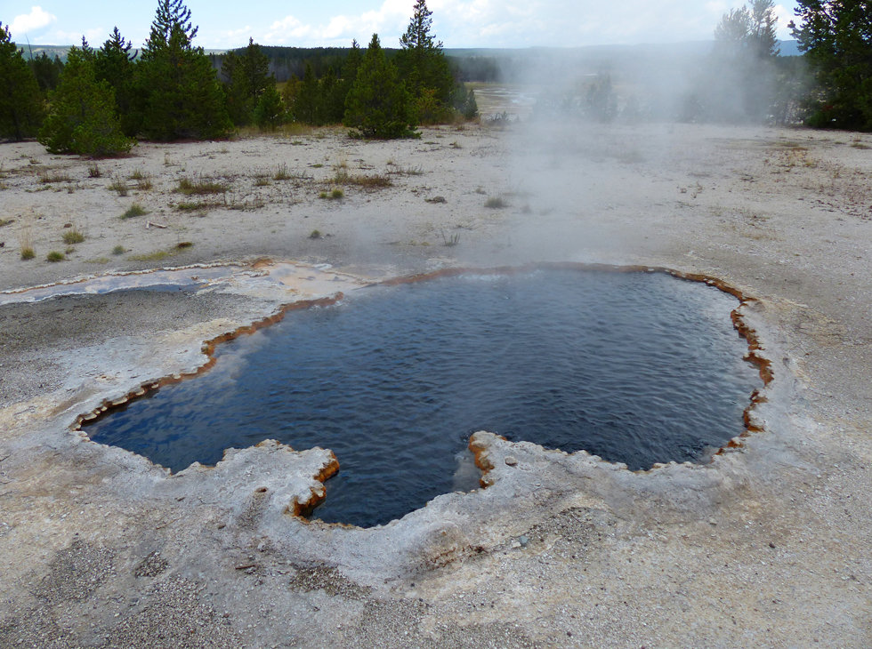 Yellowstone National Park Firehole Lake Drive Surprise Pool