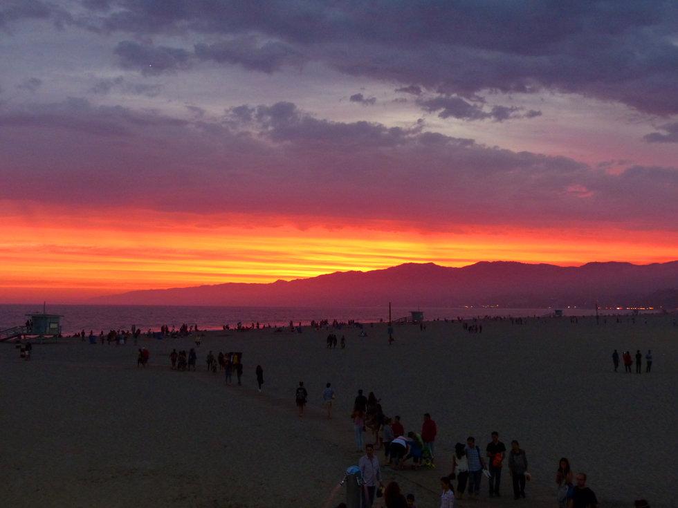 Los Angeles Santa Monica Beach Sunset