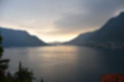 lac de côme coucher soleil