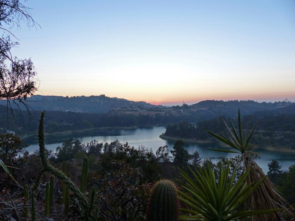 Hollywood lake sunset