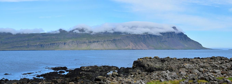 Fáskrúdsfjördur fjord est east islande iceland