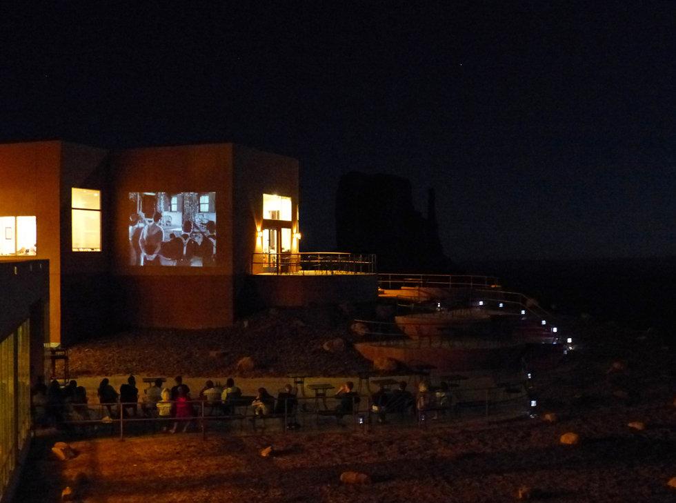 Monument Valley hotel the view film projeté
