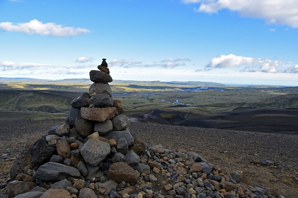 iceland island f208 cairn paysage