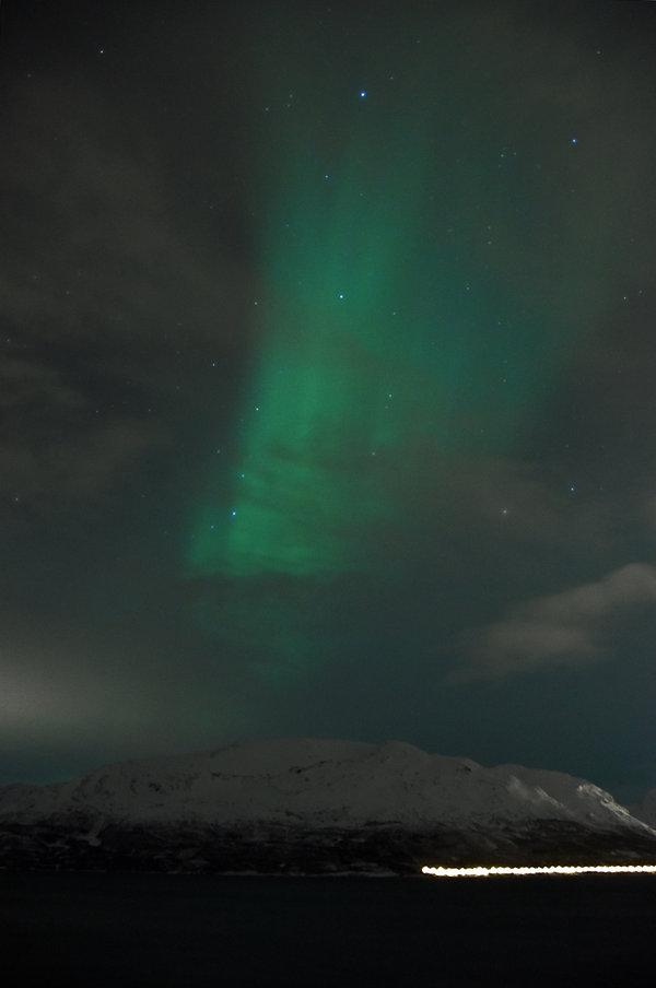 Norvège - Aurora Fjord Cabins - Aurore boréale