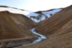 Islande massif Kerlingarfjöll rivière escaliers chemins sentier