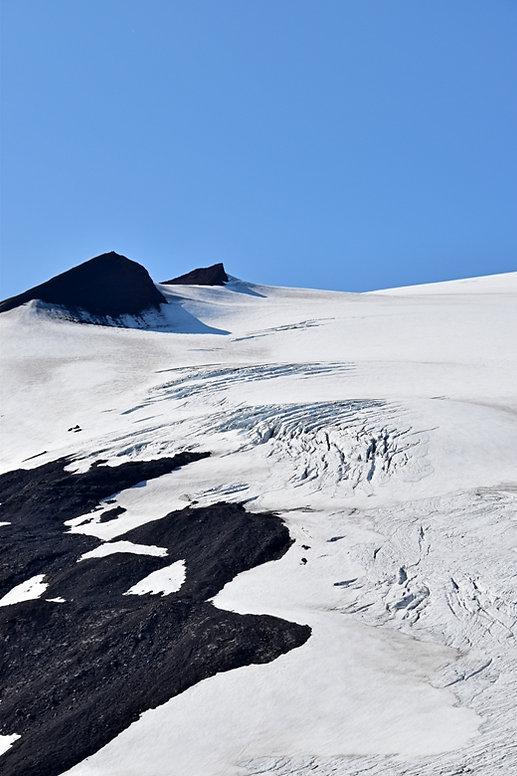 Islande Snæfellsjökull volcan glacier crevasses