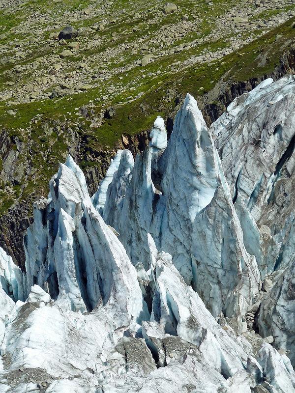 Chamonix - randonnée - glacier d'argentière - séracs