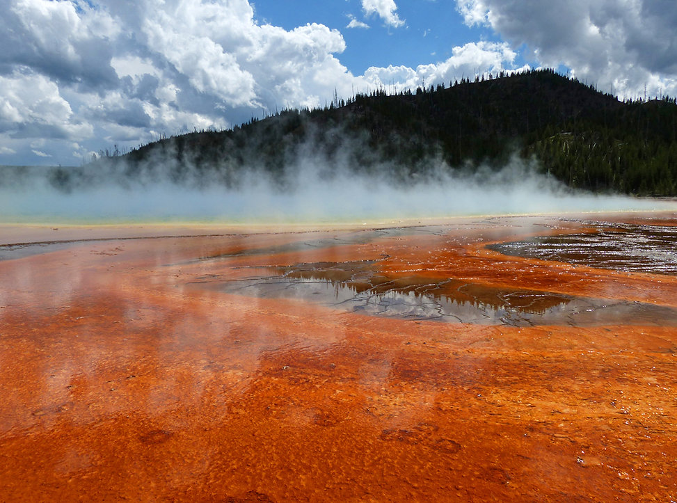 Yellowstone National Park Midway Geyser Basin Grand Prismatic Spring