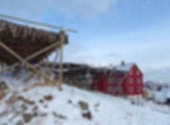 Norvège - Henningsvær - séchoirs morue