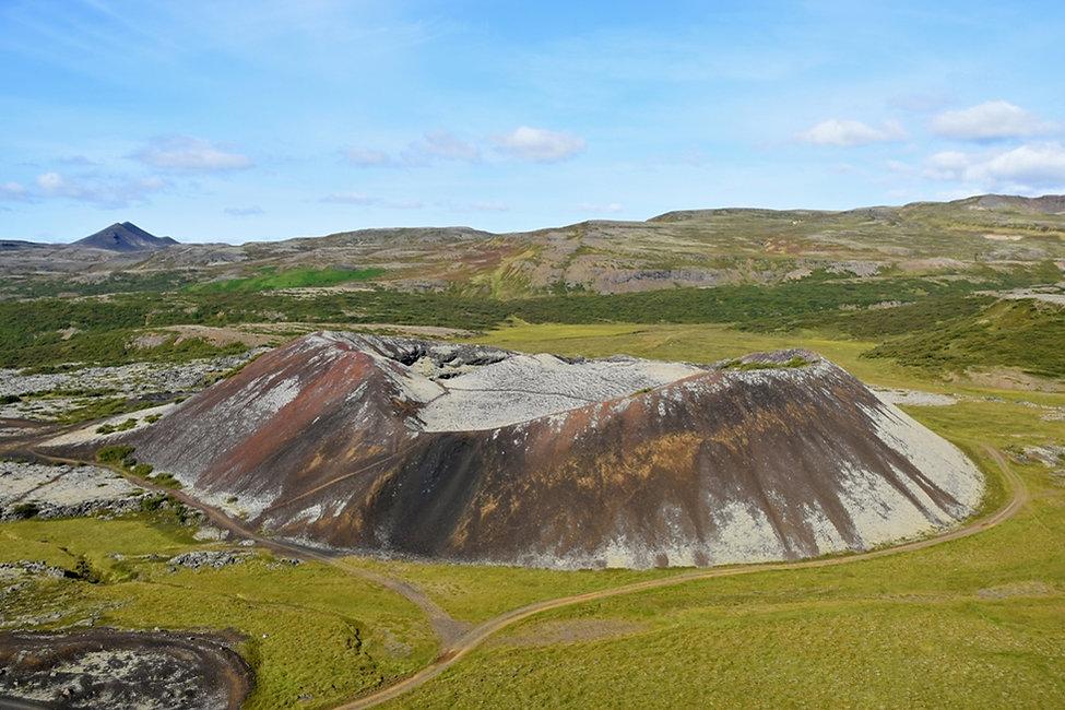 Islande volcan cratère Grábrókarfell