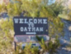 Route 66 Oatman panneau