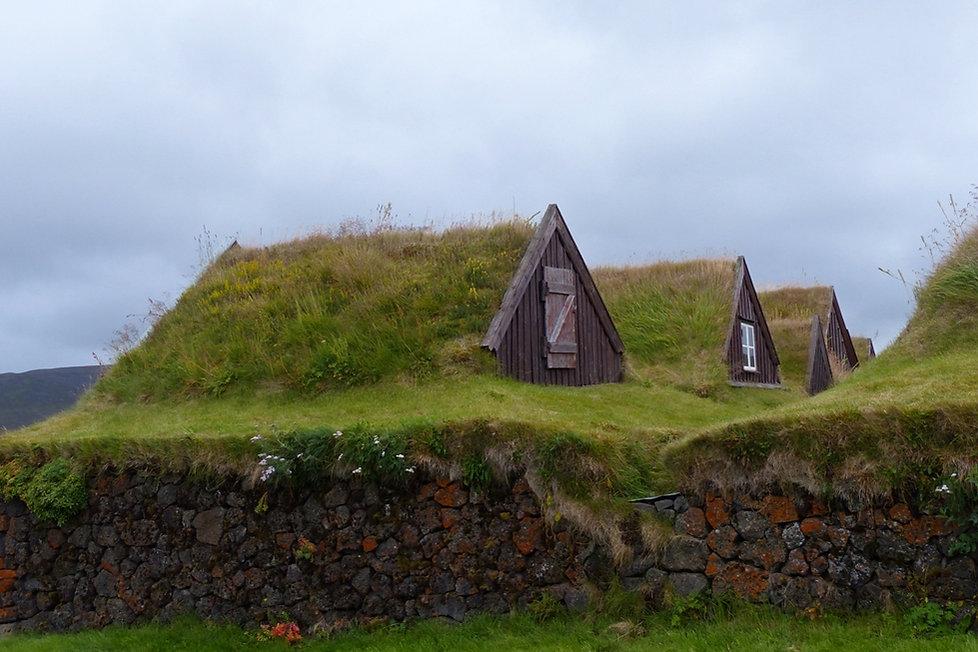 islande iceland Grenjadarstadur ferme toit gazon tourbe