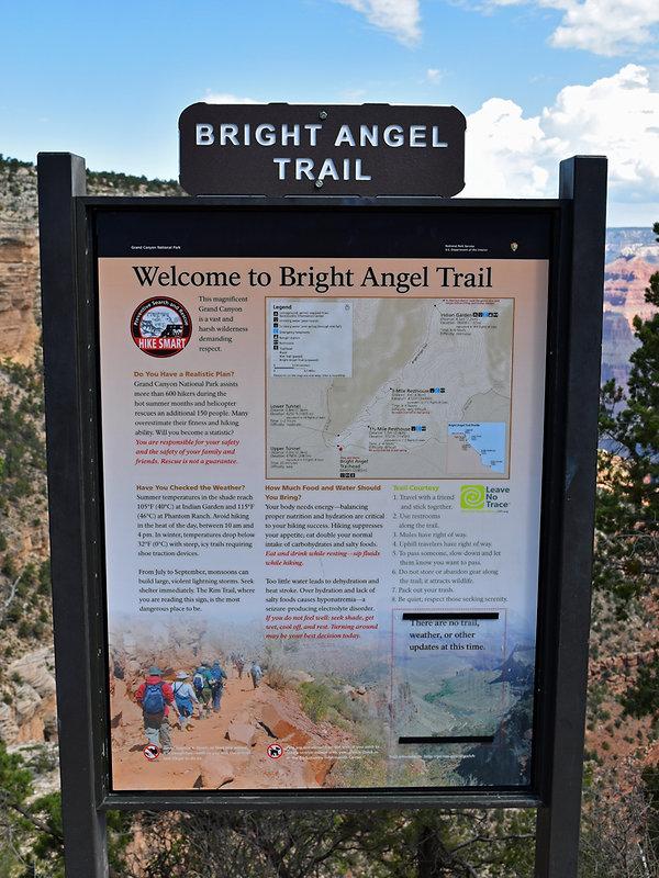 Grand Canyon National Park - Bright Angel Trail - trailhead