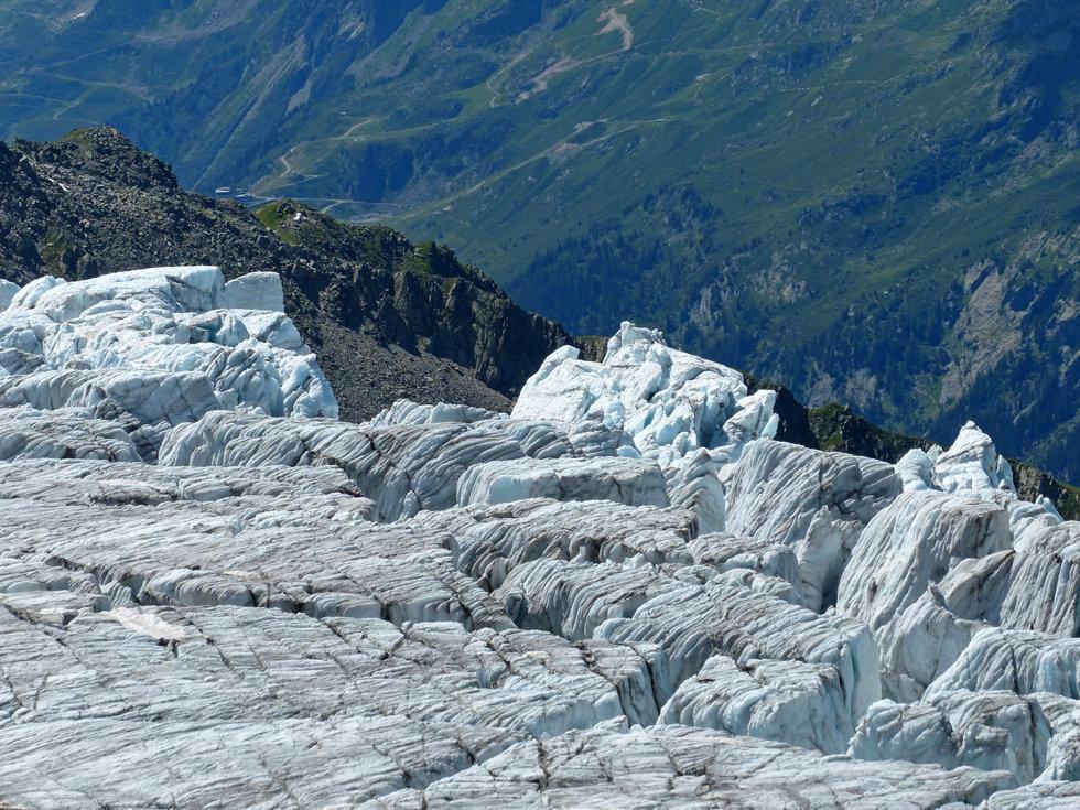 Chamonix - Refuge Albert 1er - glacier du Tour -séracs