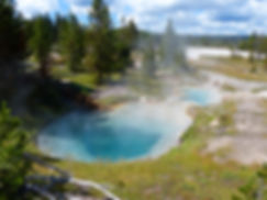 Yellowstone National Park West Thumb Geyser Basin Bluebell Pools