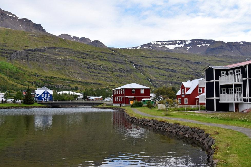 Seydisfjördur fjord est islande east iceland maison colorée