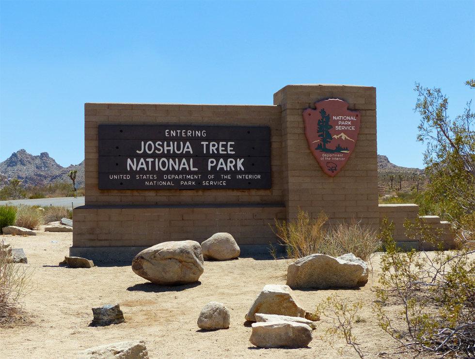 panneau entrée Joshua Tree National Park