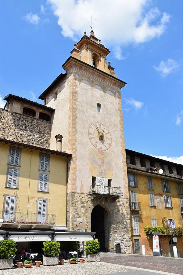 Bergame Citta Alta Duomo torre dell orologio