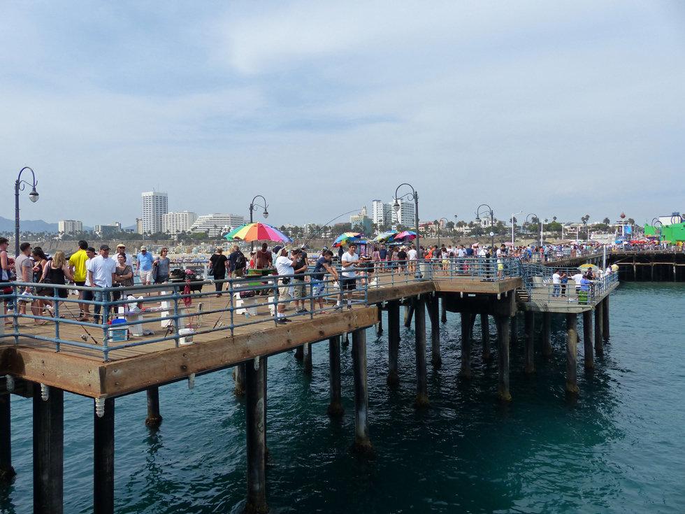 Los Angeles Santa Monica pier pêcheurs fisherman