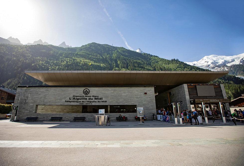 Chamonix - Aiguille du Midi - gare de départ