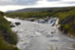 Islande chute cascade Hraunfossar