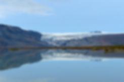 islande lac Hvítárvatn reflet glacier Langjökull