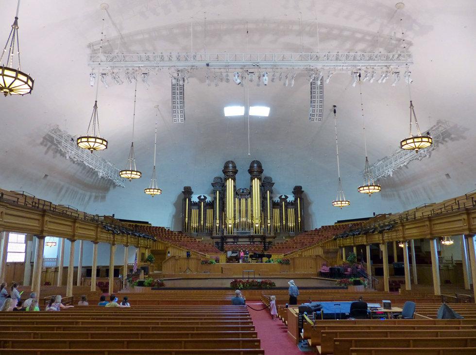 Salt Lake City Temple Square tabernacle intérieu