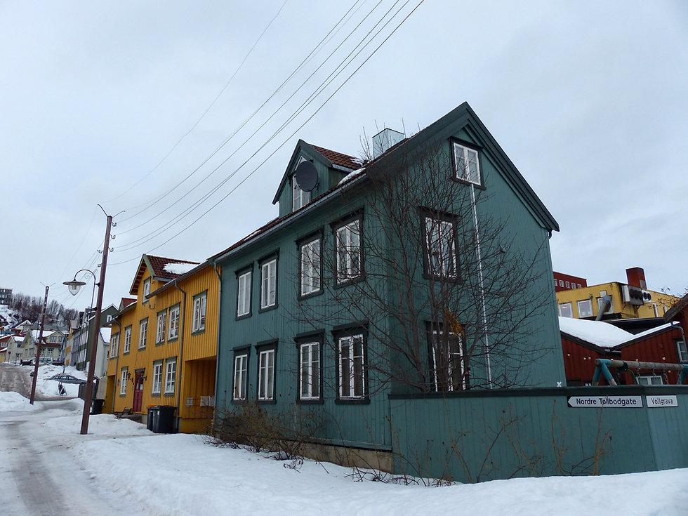Norvège - Tromsø - maisons colorées
