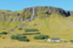 Islande péninsule Snaefellsnes cascade chute Bjarnafoss