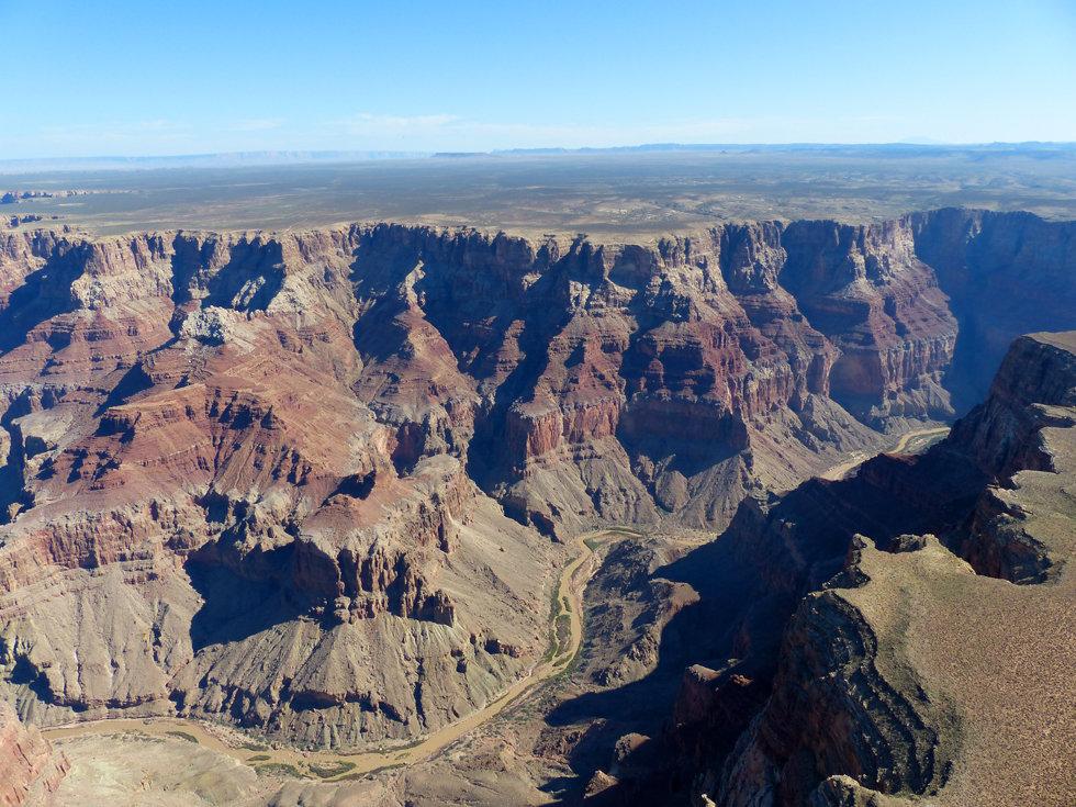 Grand Canyon survol Hélicoptère Papillon little colorado