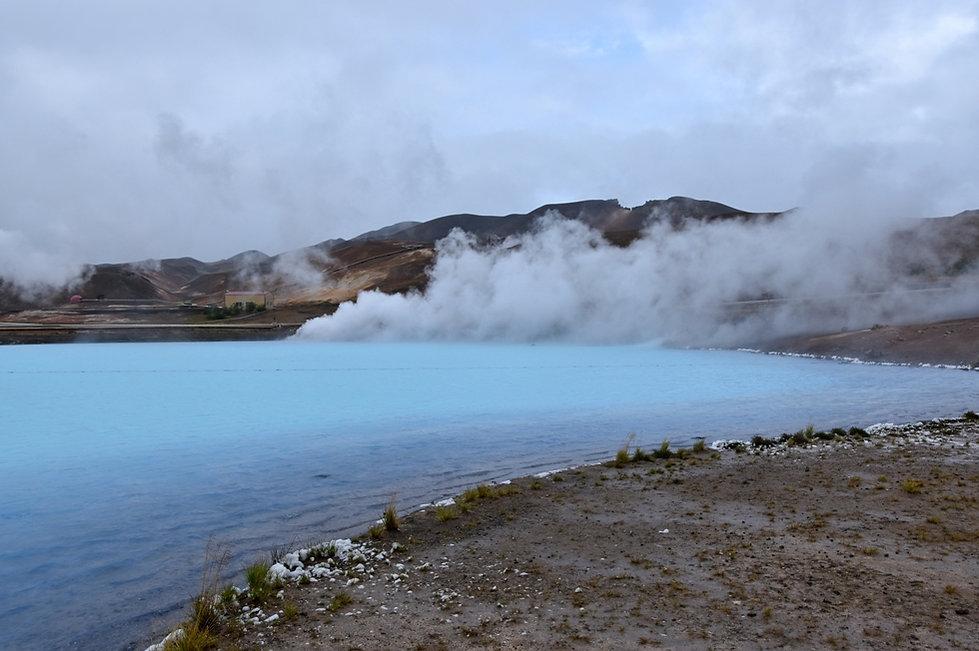 islande iceland myvatn lac bleu fumerolle