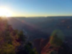 Grand Canyon National Park Rim Trail sunset