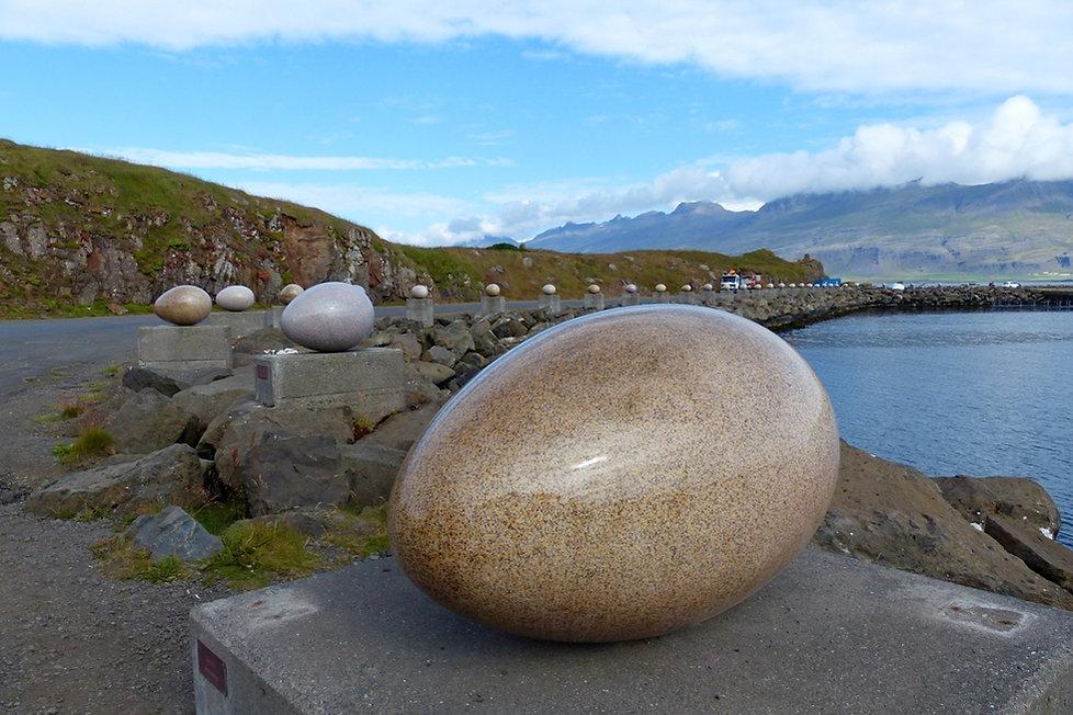 Sigurdur Gudmundsson Djúpivogur islande iceland sculpture oeufs