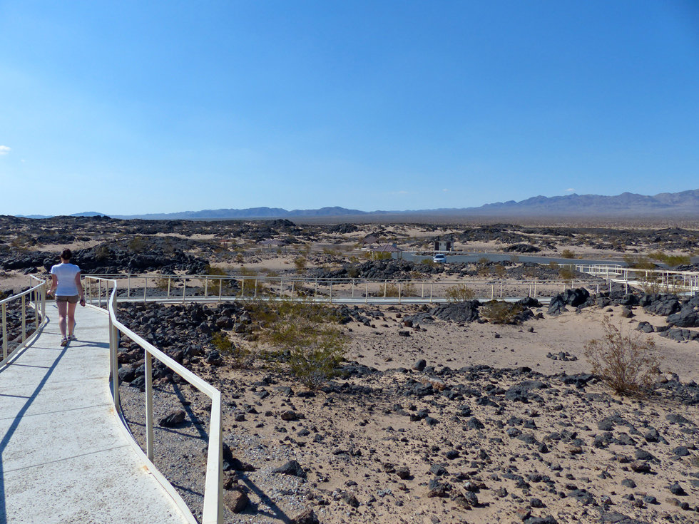 desert mojave amboy crater parking
