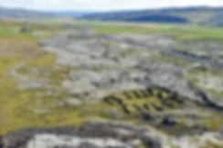 Islande volcan Grábrók coulée lave