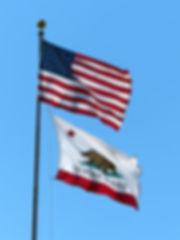 drapeau americain californie