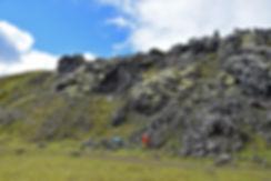 Landmanalaugar coulée lave champ lave