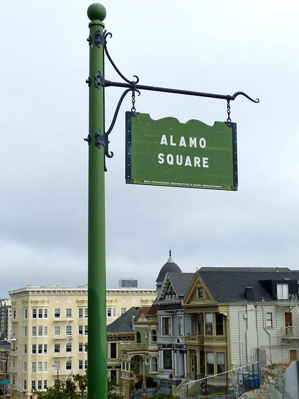San Francisco Alamo Square panneau