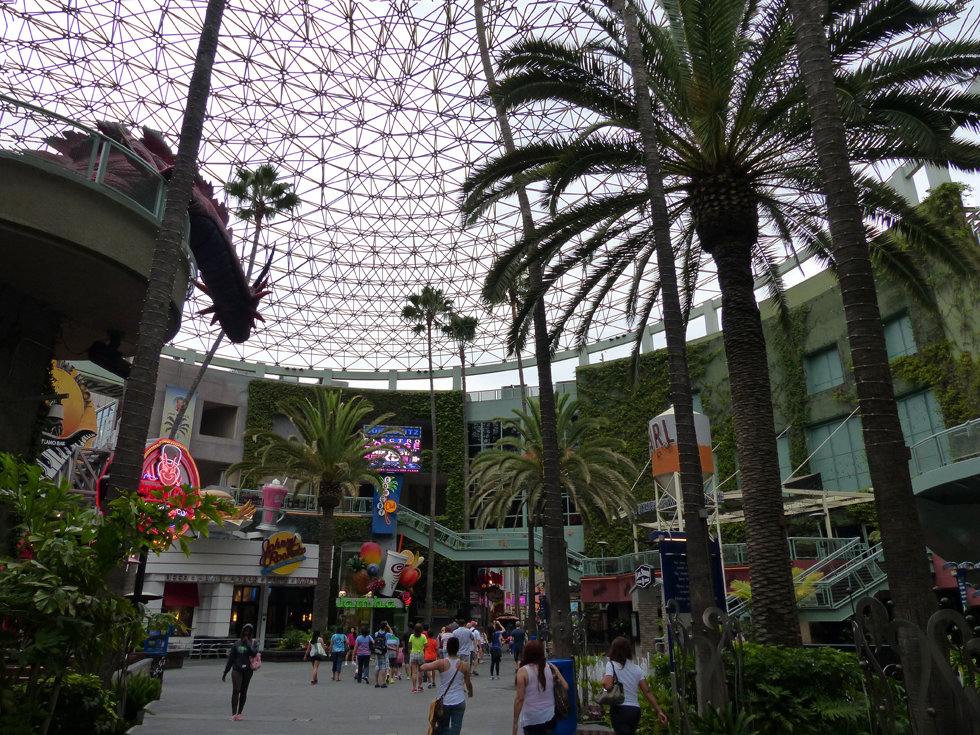 Universal Studios Hollywood city walk verrière