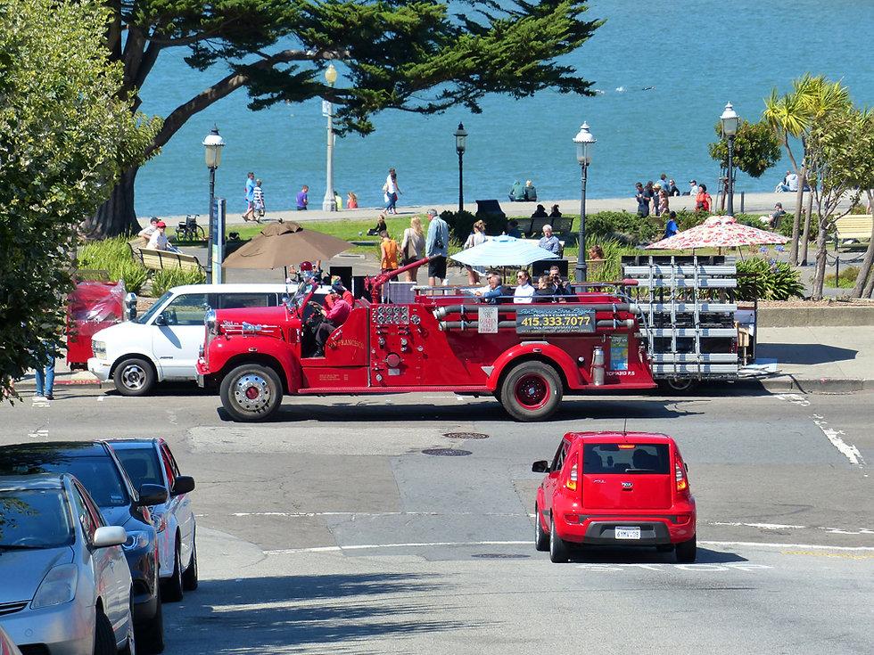 San Francisco camion pompier visite